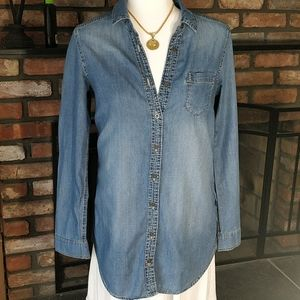 Divided by H&M long sleeve button down denim shirt